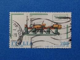 1980 ITALIA FRANCOBOLLO USATO STAMP USED NAVI NAVE POSATUBI CASTRO SEI - 6. 1946-.. Republic