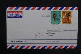 SINGAPOUR - Enveloppe Pour La France En 1974 , Affranchissement Plaisant - L 30770 - Singapour (1959-...)