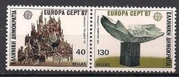 Griechenland / Greece (1987)  Mi.Nr.  1651 + 1652  ** / Mnh  (4pu35)  EUROPA - Europa-CEPT