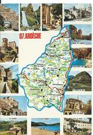 ***   ARDÈCHE   (  MULTI VUES  ) - Cartes Géographiques
