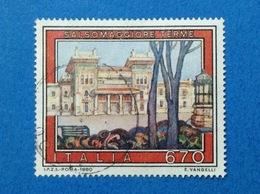 1980 ITALIA FRANCOBOLLO USATO STAMP USED TURISTICA SALSOMAGGIORE TERME - 6. 1946-.. Repubblica