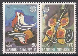 Griechenland  (1989)  Mi.Nr.  1721 + 1722  ** / Mnh  (4pu25)  EUROPA - Europa-CEPT