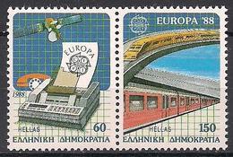 Griechenland / Greece (1988)  Mi.Nr.  1685 + 1686  ** / Mnh  (4pu38)  EUROPA - Europa-CEPT
