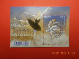 FRANCE 2016   Feuillet  FETE DU TIMBRE   Danse.Ballet Classique .   Beaux Cachets Ronds Sur Timbres Neufs - Used Stamps