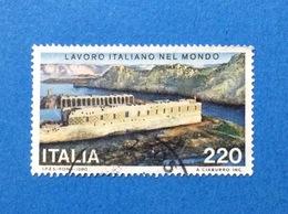 1980 ITALIA FRANCOBOLLO USATO STAMP USED LAVORO ITALIANO NEL MONDO - 6. 1946-.. Republic