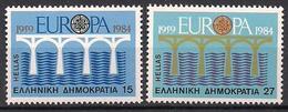 Griechenland / Greece (1984)  Mi.Nr.  1555 + 1556  ** / Mnh  (4pu07)  EUROPA - Europa-CEPT
