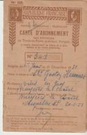 RÉPUBLIQUE FRANÇAISE - CARTE D'ABONNEMENT AUX EMISSIONS DE TIMBRES SPÉCIAUX - POSTES - TÉLÉGRAPHES - TÉLÉPHONES - 1951 - Documents Historiques