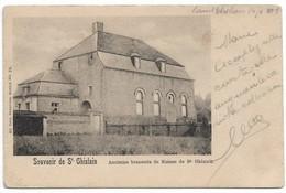 CPA PK  SOUVENIR DE SAINT GHISLAIN  ANCIENNE BRASSERIE DE MOINES DE ST GHISLAIN - Belgio