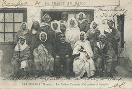 Oudjda La Police Franco Marocaine Boumendil  Cachet Legion Etrangere  Sabotier  Dax Dialecte Occitan Tresor Postes 102 - Morocco
