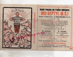 87 - LIMOGES - BUVARD 1BIS AVENUE FOUCAUD - BIO-SEPTYL- TOULOUSE- R. ALSAC PHARMACIEN-PHARMACIE-ALFORT- VETERINAIRE - Blotters