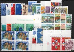 Lot De Timbres De Suisse Neufs** Avec Séries Complètes, Blocs De 4 Et Coins Datés à - 40% De La Faciale - Switzerland