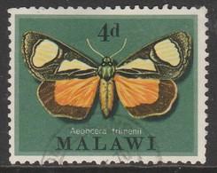Malawi 1970 Moths 4 P Multicoloured SW 134 O Used - Malawi (1964-...)