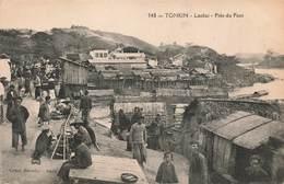 Viet Nam Vietnam Tonkin Laokai Près Du Pont Cpa Carte Animée - Viêt-Nam