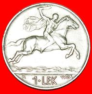 + ITALY: ALBANIA ★ 1 LEK 1926R! ALEXANDER THE GREAT (336-323 BCE)! LOW START ★ NO RESERVE! - Albania