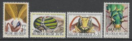 SERIE NEUVE DE BELGIQUE - INSECTES (SOLIDARITE 1971) N° Y&T 1610 A 1613 - Insectes