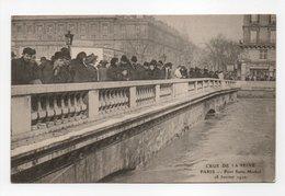 - CPA PARIS (75) - CRUE DE LA SEINE Janvier 1910 - Pont Saint-Michel - Edition Le Deley - - Inondations De 1910
