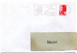 HERALDIQUE = 35 JANZE 1982 = FLAMME  SECAP Illustrée D'ARMOIRIES ' Cité Commerçante' - Postmark Collection (Covers)