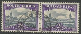 South Africa - 1946 Government Buildings 2d  Pair Used    SG 107a   Sc 55 - South Africa (...-1961)