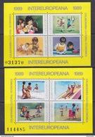 Romania 1989 Intereuropeana 2 M/s ** Mnh (42955) - European Ideas