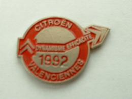 PIN'S  CITROËN - VALENCIENNES 1992 - Citroën