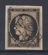 France - 1849-50 - Obl. - Y&T 3 - 20c - - 1849-1850 Ceres