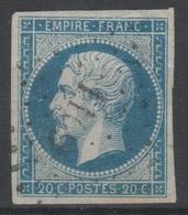 France - 1853 - Y&T 14A - Type I - Cachet 1169 - EGREVILLE - - 1853-1860 Napoléon III