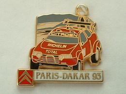 PIN'S  CITROËN - PARIS DAKAR 93 - MICHELIN - TOTAL - ZAMAC - Citroën