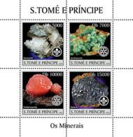 Sao Tome 2004 Minerals  ,rotary Logo - Sao Tome And Principe