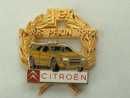 PIN'S  CITROËN - 1er PARIS PEKIN 1992 - ZAMAC - Citroën
