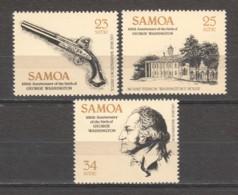 Samoa 1982 Mi 473-475 MNH GEORGE WASHINGTION - George Washington