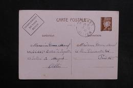 FRANCE - Entier Postal Type Pétain De Magnet Pour Paris En 1942 - L 30805 - Entiers Postaux