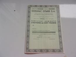 COGNAC OTARD S. A. (chateau De Cognac , Charente) - Non Classés