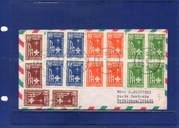 ##(DAN197)- Costa Rica 1972- Air Mail Cover With  Christmas Stamps To Israel, , Retour To Sender To Firenze-Italy - Costa Rica