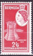 BERMUDA 1953QEII 2/6Scarlet SG147 MH - Bermuda