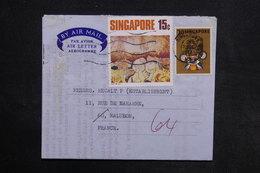 SINGAPOUR  - Aérogramme Pour La France En 1972 - L 30810 - Singapour (1959-...)