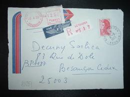 DEVANT LR TP LIBERTE 2,10 OBL.8-6 1985 974 LE TAMPON + VIGNETTE P1 97422 à 1250 - Manual Postmarks