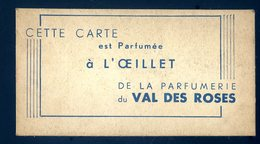 Carte Parfumée De La Parfumerie Du Val Des Roses JM11 - Cartoline Profumate