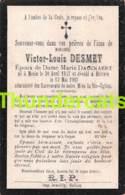 BIDPRENTJE VICTOR LOUIS DESMET DAUCKAERT MENIN MENEN HALLUIN 1903 - Imágenes Religiosas