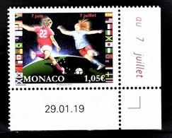 MONACO 2019 - FOOTBALL FÉMININ EN FRANCE  - NEUF ** - Neufs