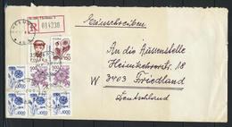 Polen, MiNr. 3253 + 3235 + 3245 (2x) + 3246 (4 X) Auf Brief / Einschreiben Aus Chelmno Nach Deutschland; E-43 - 1944-.... Republik