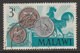 Malawi 1971 Decimal Coinage 3 T Multicoloured SW 144 O Used - Malawi (1964-...)