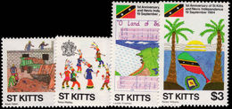 St Kitts 1984 Independence Anniversary Unmounted Mint. - St.Kitts And Nevis ( 1983-...)