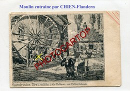 MOULIN Entraine Par CHIEN-TRETMUEHLE-Dessin-CARTE Allemande-Guerre 14-18-1WK-BELGIEN-Flandern-Feldpost - Wassermühlen