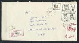 Polen, MiNr. 2540 + 2830 + 3058 (4x) Auf Brief / Einschreiben Aus Turza Nach Deutschland; E-44 - 1944-.... Republik