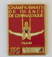 1 Pin's GYMNASTIQUE - CHAMPIONNATS DE FRANCE - DIJON (FRANCE TELECOM) Signé ARTHUS BERTRAND PARIS - Ginnastica