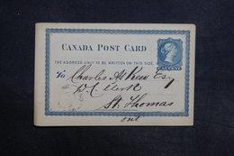 CANADA - Entier Postal Pour Saint Thomas En 1878 - L 30832 - Briefe U. Dokumente