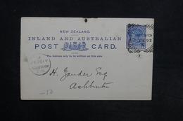 NOUVELLE ZÉLANDE - Entier Postal De Christchurch En 1892 - L 30833 - Briefe U. Dokumente
