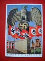 """Color-Karte """"Reichtsparteitag Zu Nürnberg"""" , Gelaufen _ RECHT SELTEN !! - Deutschland"""