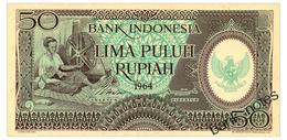 INDONESIA 50 RUPIAH 1964 Pick 96 Unc - Indonesia