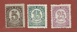 Espagne N° 612 - 614 - 616 - 1931-Aujourd'hui: II. République - ....Juan Carlos I